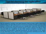 Tips for choosing the right office furniture