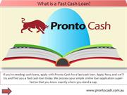 What is a Fast Cash Loan?