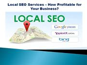 Local SEO Services – How Profitable for Your Business