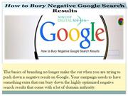 How to Bury Negative Google Search Results