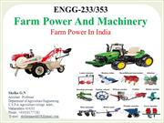 farm power and machinery