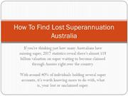 How To Find Lost Superannuation Australia