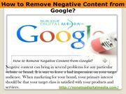 How to Remove Negative Content from Google?