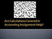 Are Calculations Covered in Accounting Assignment Help