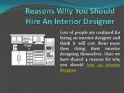 Reasons Why You Should Hire An Interior Designer (1)