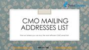 CMO Email List CMO Email Database Chief Marketing Offer Contact List