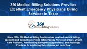 Texas Emergency Physicians Billing Services - 360 Medical Billing Solu