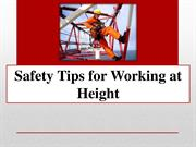 Safety Tips for Working at Height