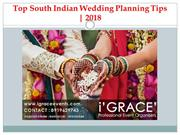 Top South Indian Wedding Planning Tips | i'GRACE' Events