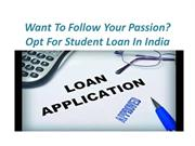 Student loan in india