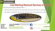 Line Marking Removal Services in Sydney