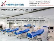 Hospitals mailing list & email list