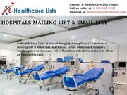 Hospitals Mailing List | Hospitals Email List | Hospitals Database