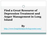Find a Great Resource of Depression Treatment and Anger Management in