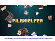 File Helper App | Effectively Manage Chatter Files And Attachments
