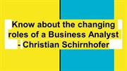 Christian Schirnhofer : Leading the Financial and Accounting dept.