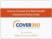 How to Choose the Best Health Insurance Policy