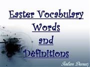 Easter Vocabulary Words by Talar D�r�s