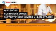 QuickBooks Customer Service Number 1-800-272-4169