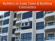 Capetown Builders - Builders in Cape Town & Building Contractors