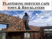 Capetown Builders - Plastering services cape town & Bricklayers
