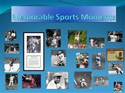 Memorable Sports Moments highlights
