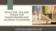 Effective Tips and Tricks for Paraphrasing and Avoiding Plagiarism