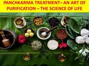 Panchkarma Treatment | An art of Purification - PPT