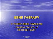 GENE2 THERAPY NEW Yousry ppt