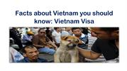 Facts about Vietnam you should know Vietnam Visa