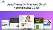 Astra Theme On Managed Cloud Hosting