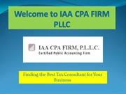 Tax Services Plano TX, CPA Firm at iaacpafirm
