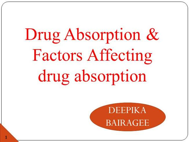 Git Absorption of Drug Ppt |authorSTREAM