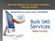 Best Bulk SMS Service Provider in Patiala – THE SMS WORLD