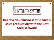 Best CRM software to increase sales productivity: