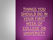 Things You Should Do in Your First Week of College or University