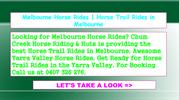 Melbourne Horse Rides - Horse Trail Rides in Melbourne
