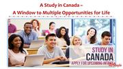 A study in Canada - A Window to Multiple Opportunities for Life