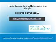 How to Remove Personal Information from Google Non Stop Digital Media