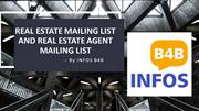 Real Estate Mailing Lists | Real Estate Agent Email List