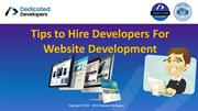 Points to Consider Before Hire Dedicated Developers For your Website D