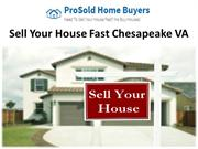 Sell Your House Fast Chesapeake VA