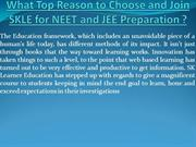 SKLE | Best NEET and JEE Institute in delhi | SK Learner Education