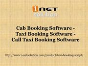 Cab Booking Software - Taxi Booking Software - Call Taxi Booking Softw