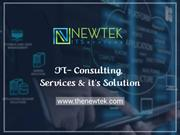 IT Consulting Services  Managed - IT Consulting -  Software Evaluation