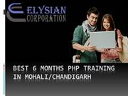Best 6 months Php training in Mohali
