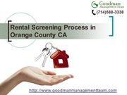 Rental Screening Process in Orange County CA