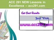 ACC 291NEW Lessons in Excellence / acc291.com