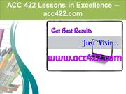 ACC 422 Lessons in Excellence / acc422.com