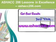 ASHACC 206 Lessons in Excellence / ashacc206.com